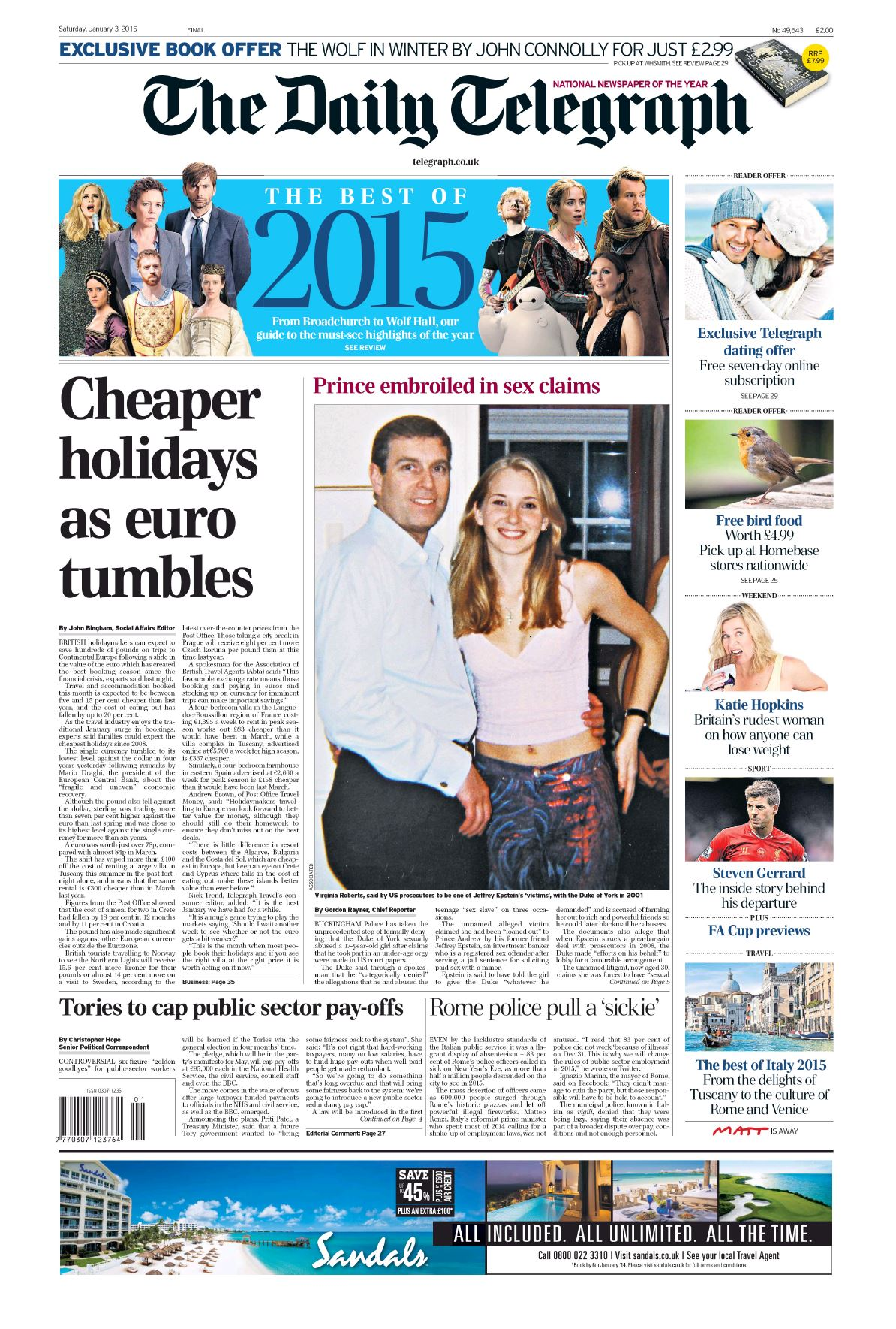 The Daily Telegraph  January 03 2015 free download