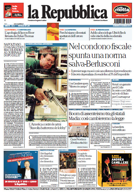 La Repubblica - 04.01.2015 free download