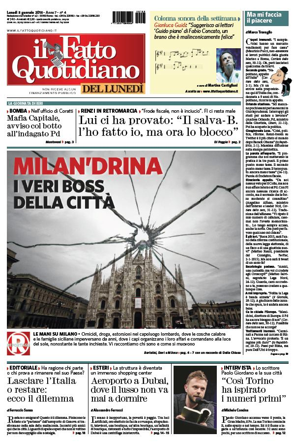 Il Fatto Quotidiano (05-01-15) free download