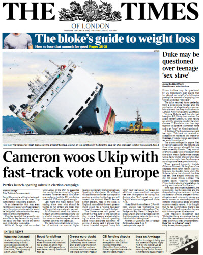 The London Times January 05 2015 free download