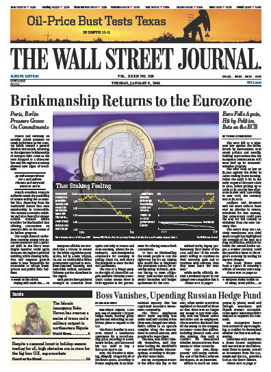 Wallstreet Journal Europe 6 January 2015 free download