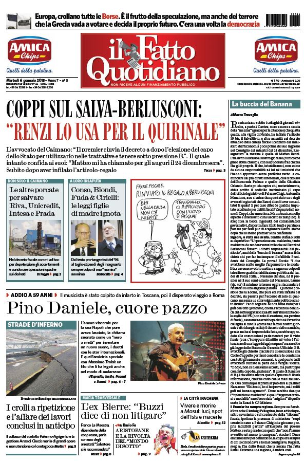 Il Fatto Quotidiano (06-01-15) free download