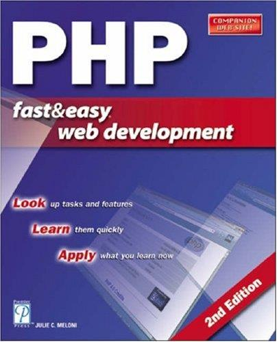 PHP Fast & Easy Web Development free download