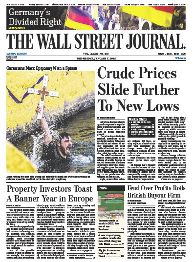 Wallstreet Journal Europe 7 January 2015 free download