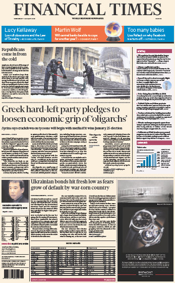 Financial Times Europe 7 January 2015 free download