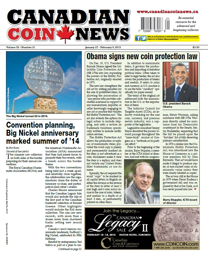Canadian Coin News - 27 January 2015 free download