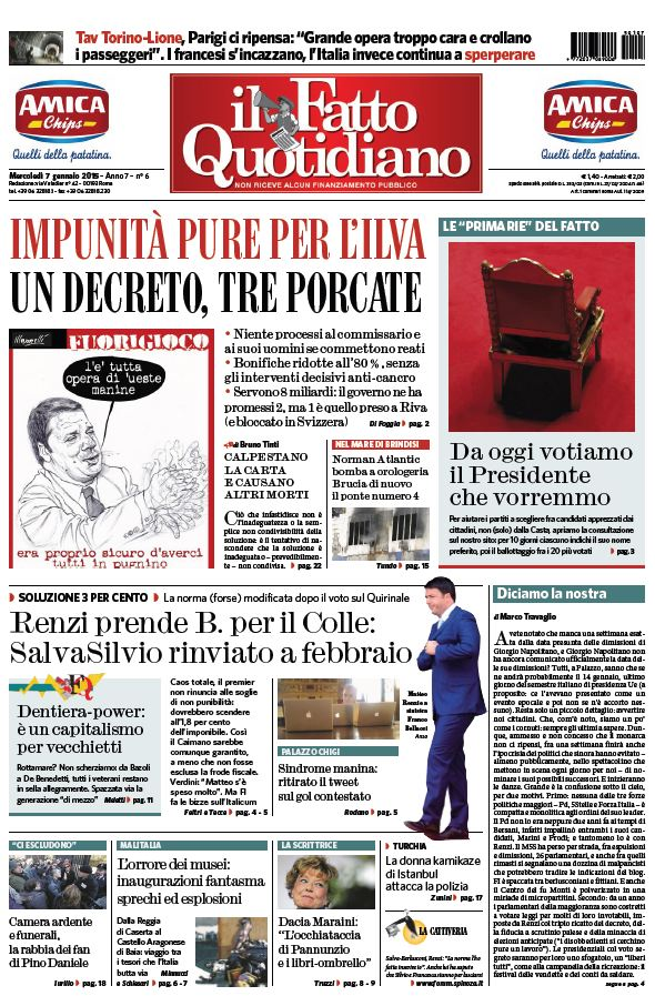 Il Fatto Quotidiano (07-01-15) free download