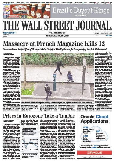 Wallstreet Journal Europe 8 January 2015 free download