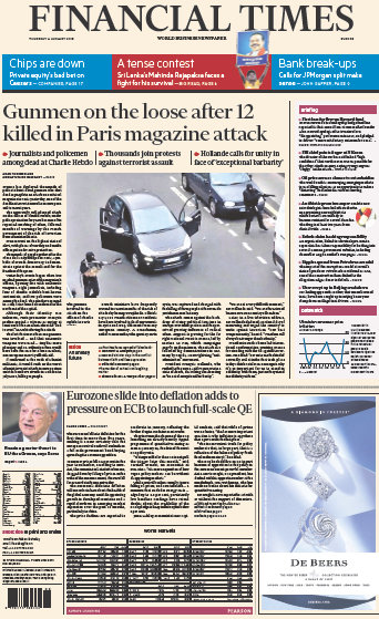 Financial Times Europe 8 January 2015 free download