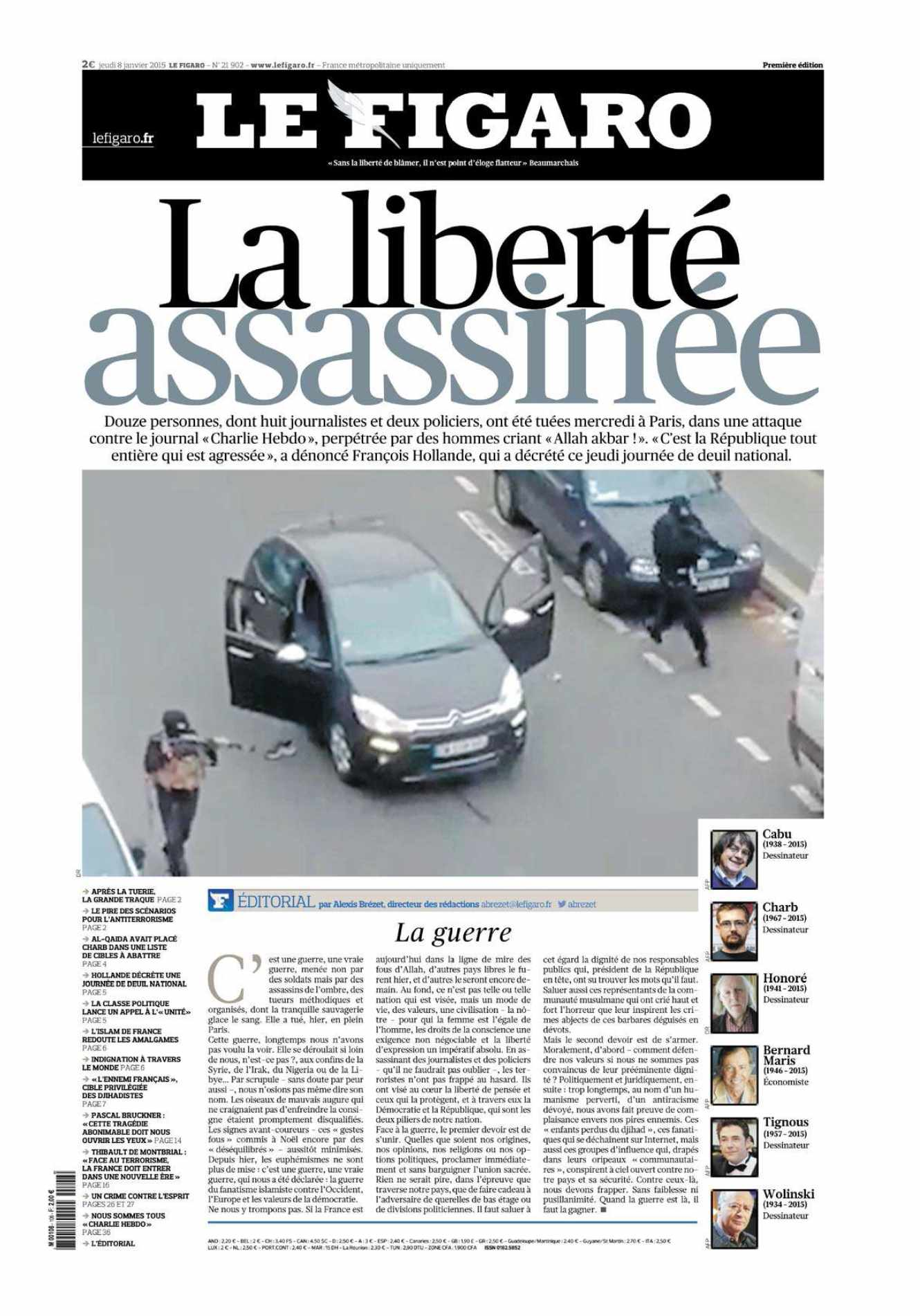 Le Figaro du 08 Janvier 2015 free download