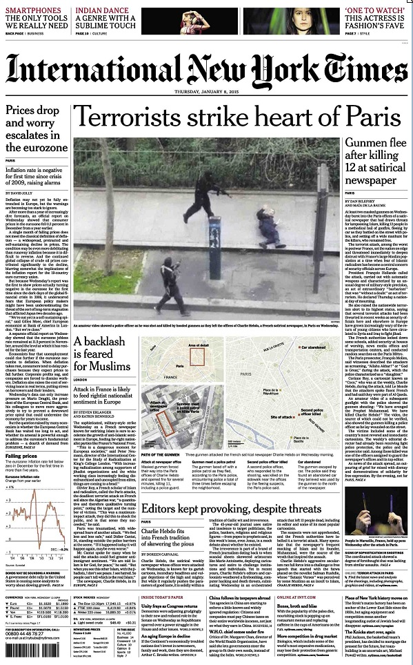 International New York Times - Thursday, 8 January 2015 free download