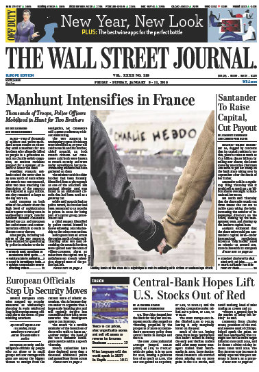Wallstreet Journal Europe 9 January 2015 free download