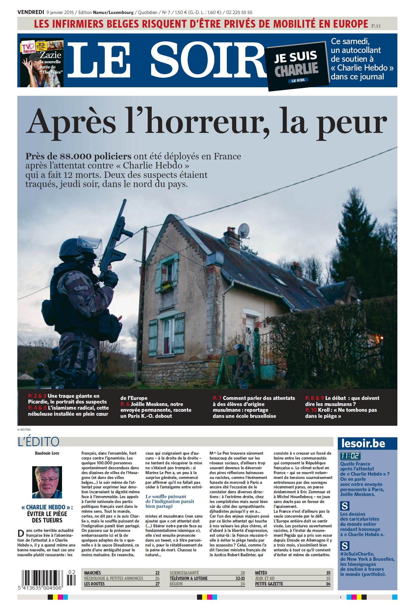 Le Soir du 09 Janvier 2015 free download