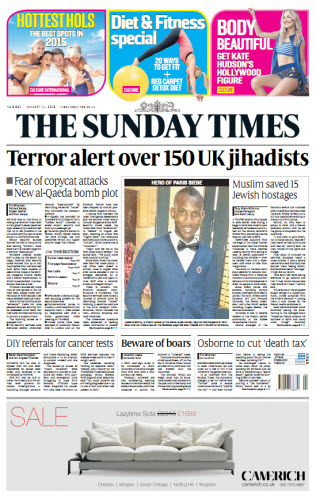 The London Times January 11 2015 free download