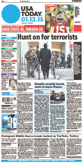 USA Today 13 January 2015 free download