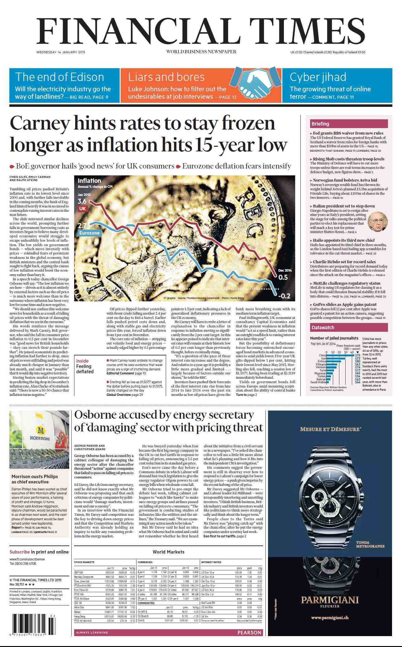 Financial Times UK January 14, 2015 free download