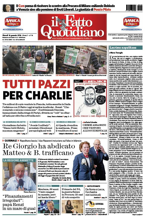 Il Fatto Quotidiano (15-01-15) free download