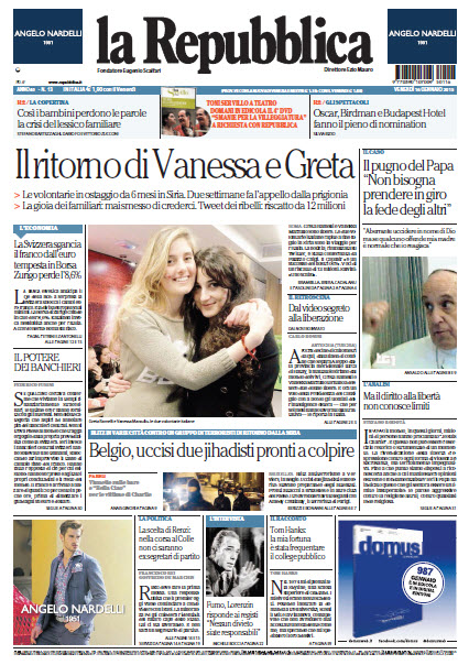 La Repubblica - 16.01.2015 free download