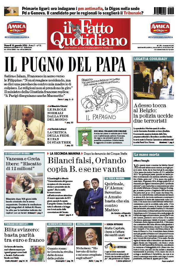 Il Fatto Quotidiano (16-01-15) free download