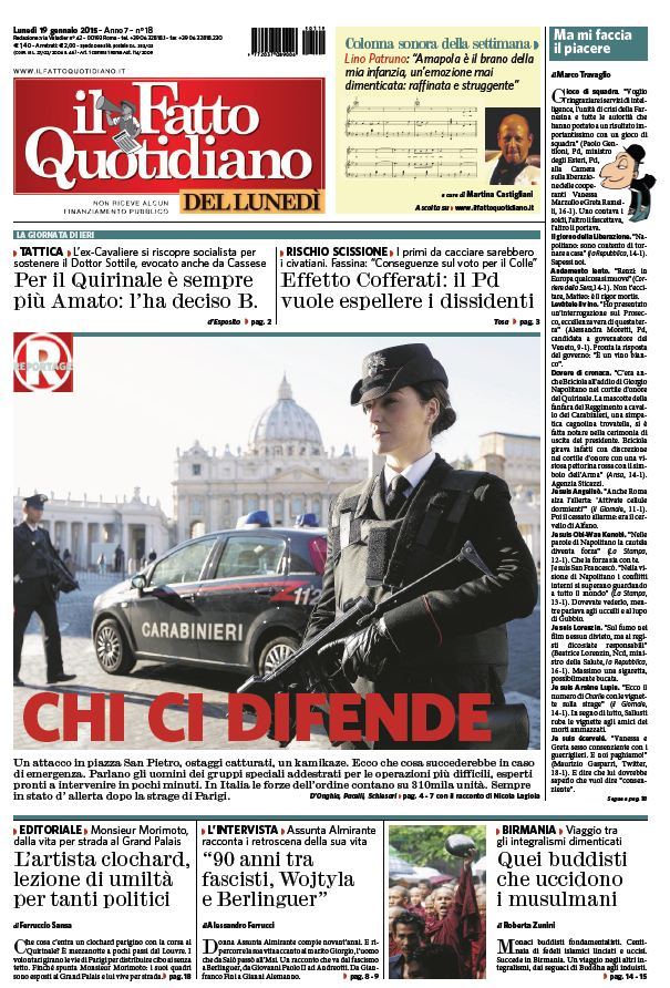 Il Fatto Quotidiano (19-01-15) free download