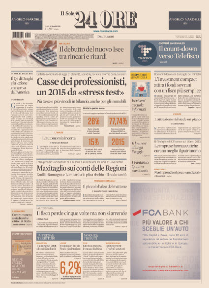 Il Sole 24 Ore - 19.01.2015 free download