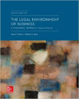 The Legal Environment of Business: A Managerial Approach: Theory to Practice, 2 edition free download