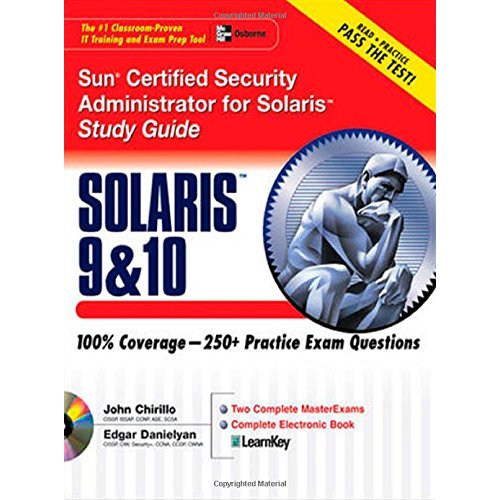 Sun Certified Security Administrator for Solaris 9 & 10 Study Guide (Certification Press) by John Chirillo[Repost] free download