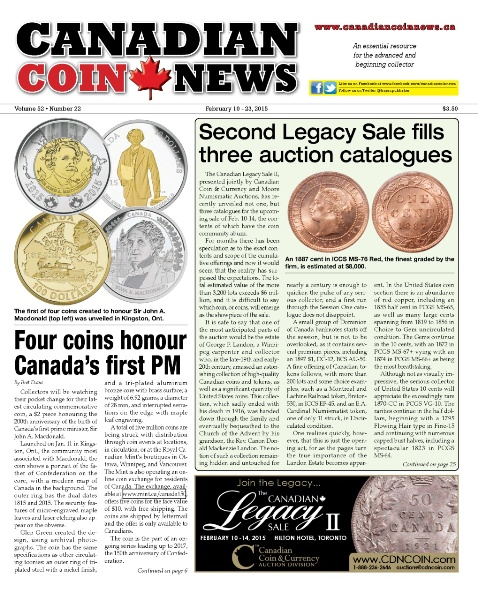 Canadian Coin News - 10 February 2015 free download