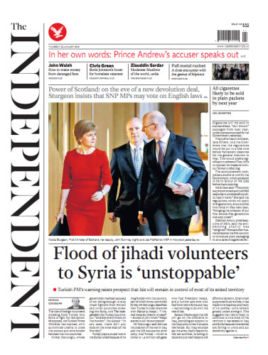 The Independent January 22 2015 free download