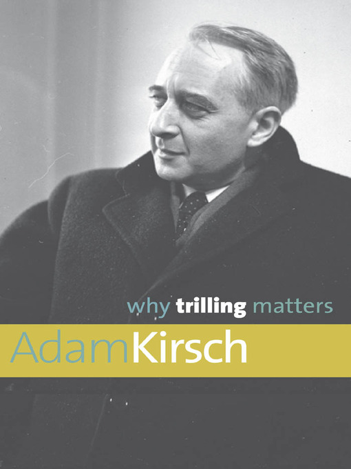 Why Trilling Matters free download