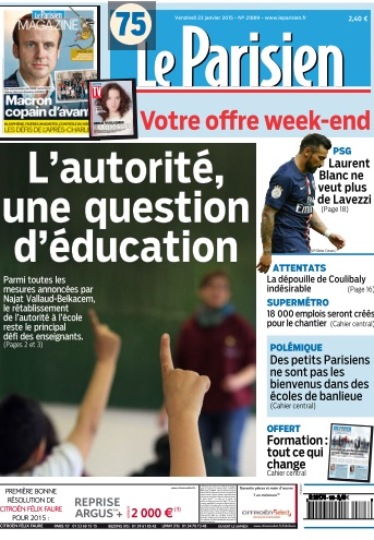 Le Parisien + journal de Paris du Vendredi 23 Janvier 2015 free download