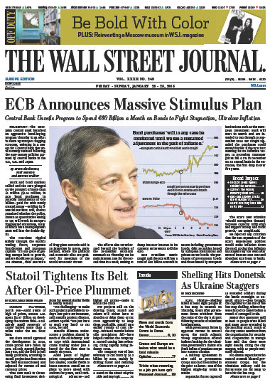 Wallstreet Journal Europe 23 January 2015 free download