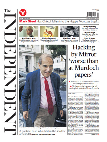 The Independent January 23 2015 free download