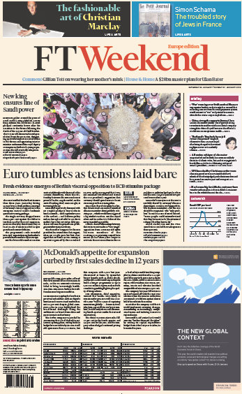 Financial Times Europe Weekend Edition 24 January 2015 free download