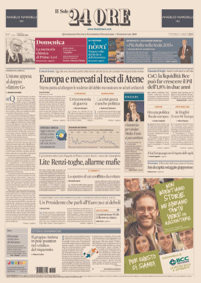 Il Sole 24 Ore - 25.01.2015 free download