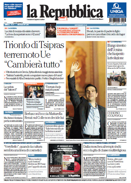 La Repubblica - 26.01.2015 free download