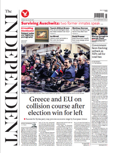 The Independent January 26 2015 free download
