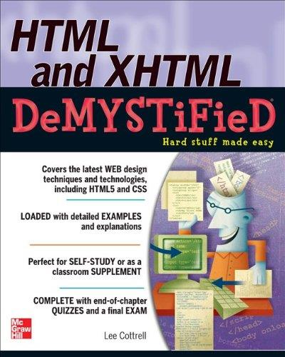 HTML and XHTML DeMYSTiFieD free download