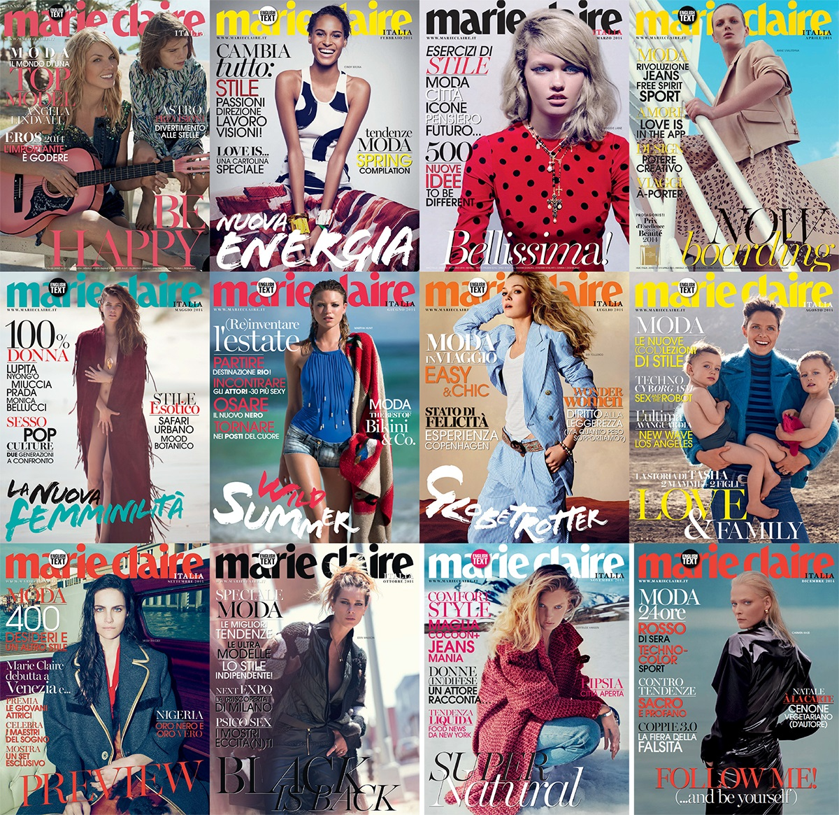 Marie Claire Italia - 2014 Full Year Issues Collection free download