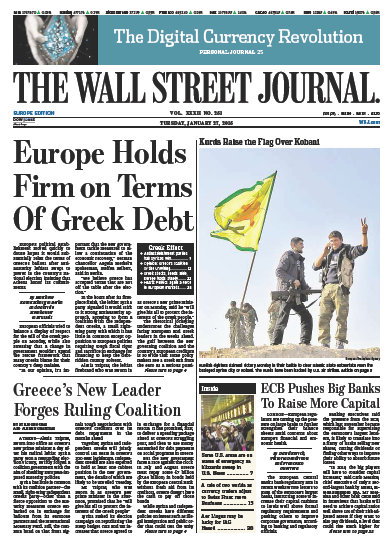 Wallstreet Journal Europe 27 January 2015 free download
