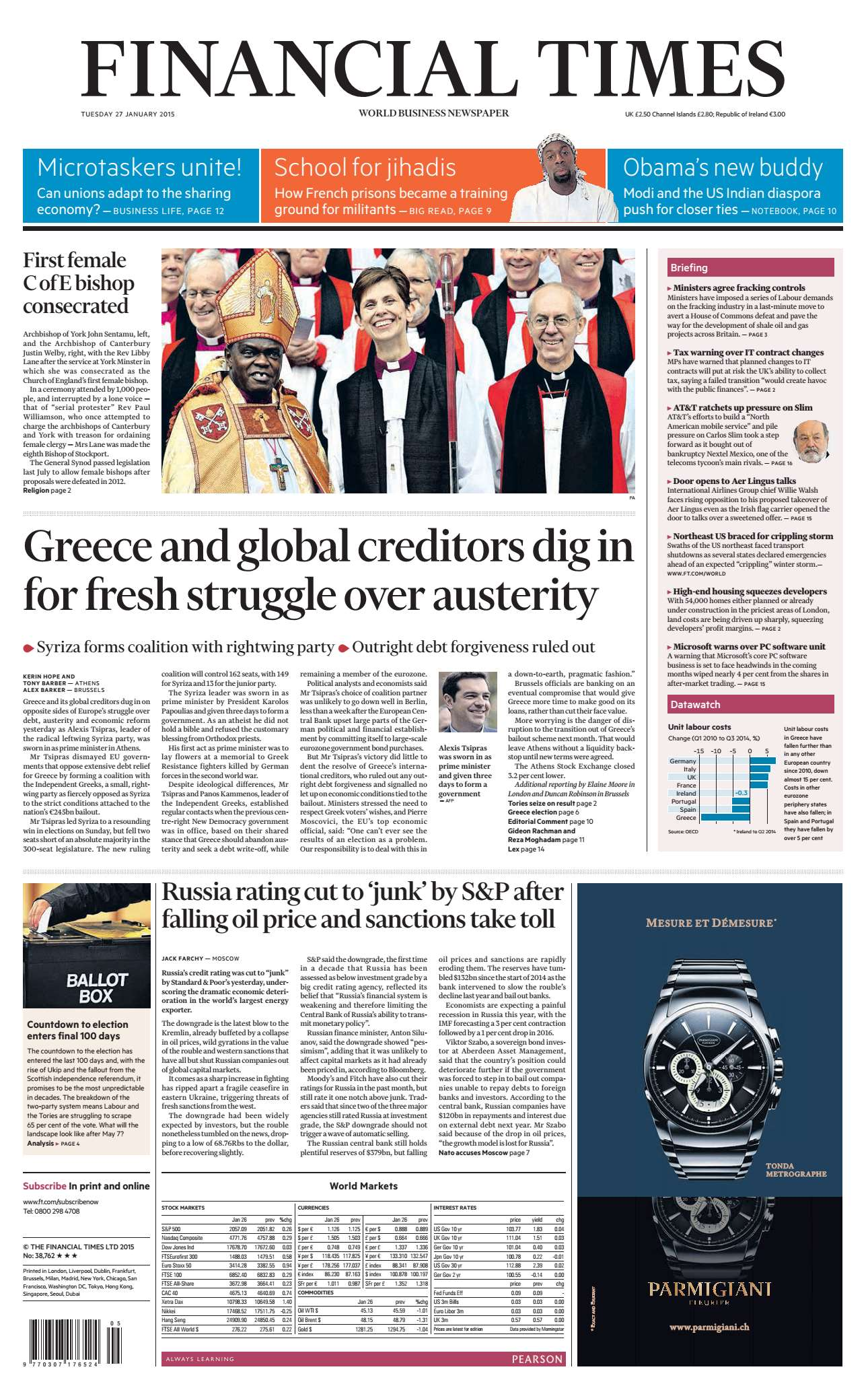 Financial Times UK January 27, 2015 free download