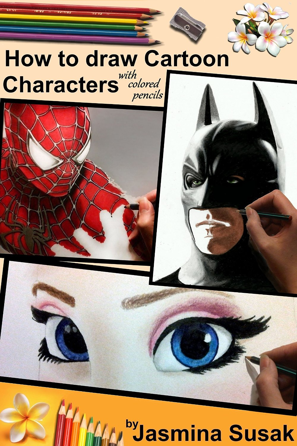 How to draw cartoon characters with colored pencils: in realistic style free download