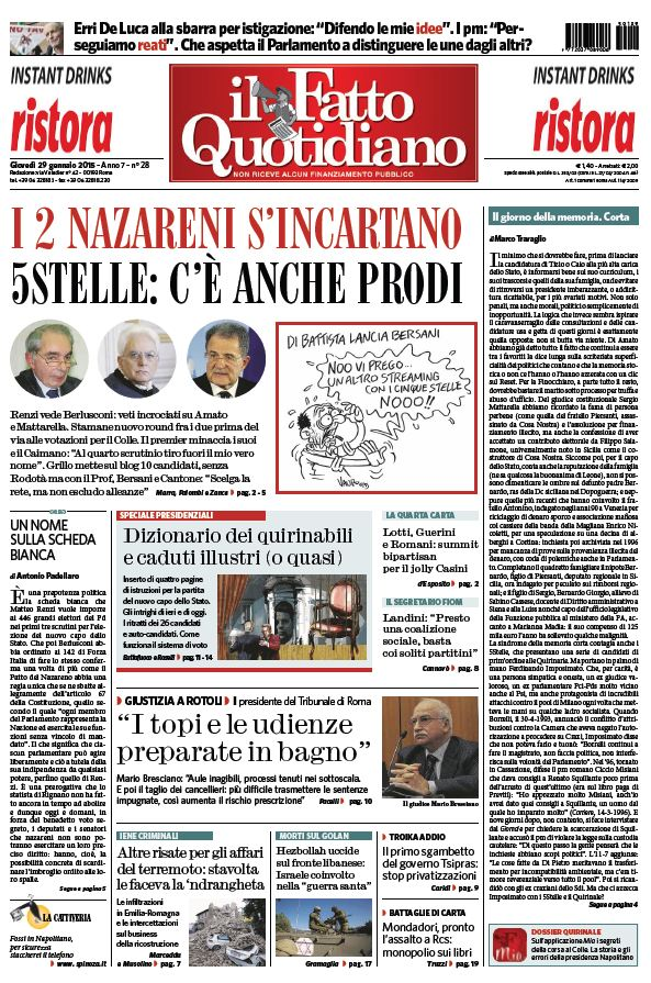 Il Fatto Quotidiano (29-01-15) free download