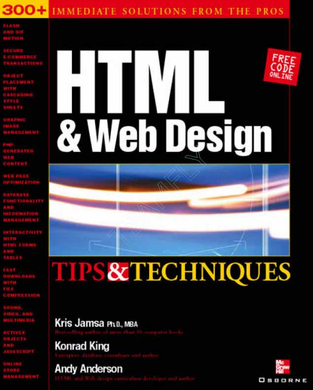 HTML & Web Design Tips & Techniques free download