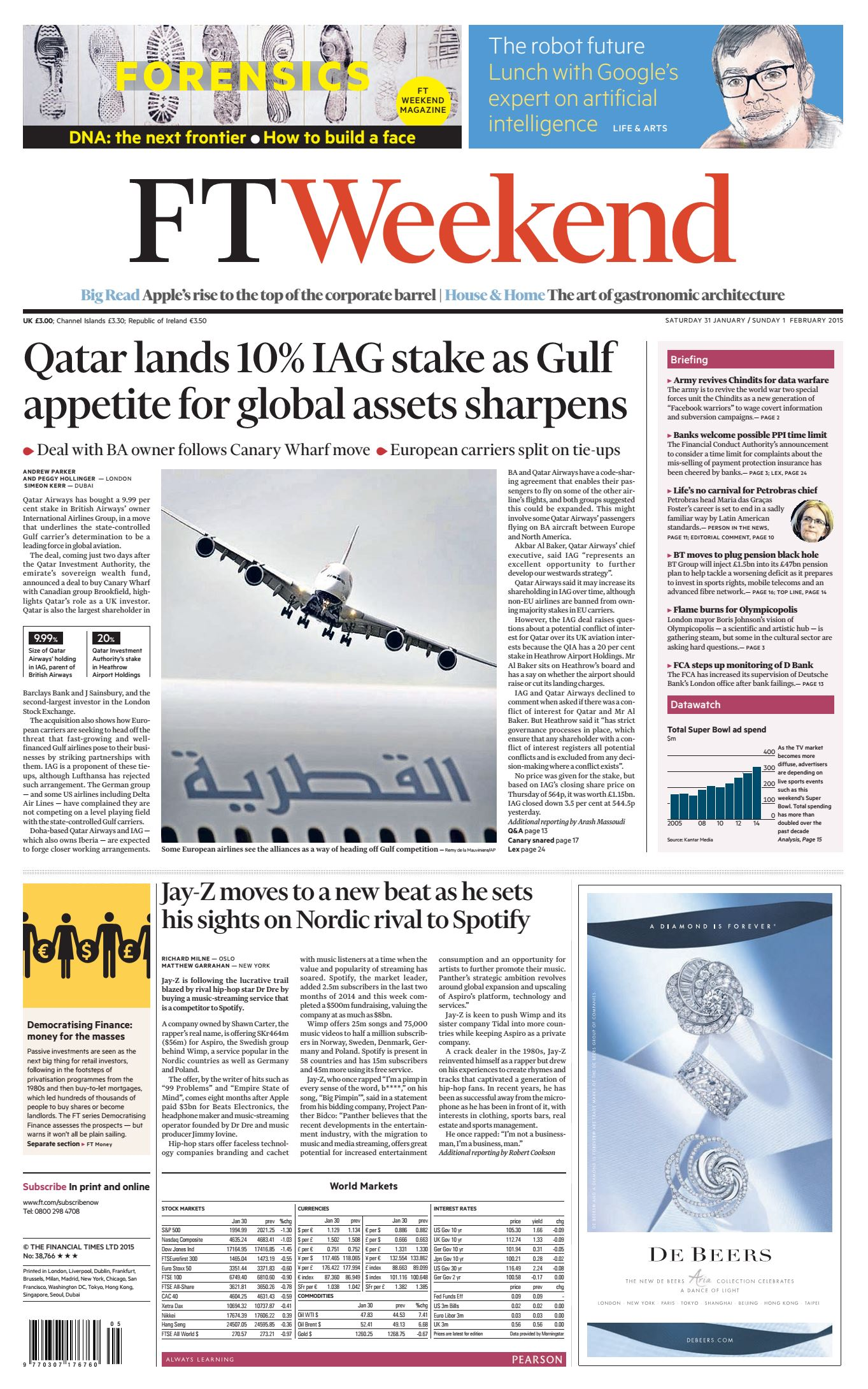 Financial Times UK January 31, 2015 free download