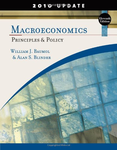 Macroeconomics: Principles and Policy, Update 2010 Edition free download