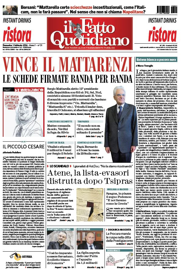 Il Fatto Quotidiano (01-02-15) free download