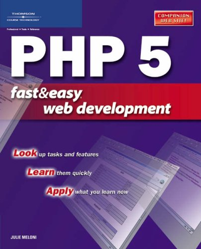 PHP 5 Fast & Easy Web Development free download