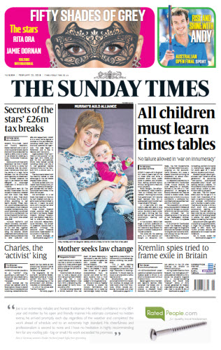 The London Times February 01 2015 free download