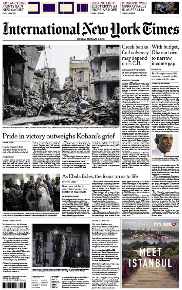 International New York Times - Monday, 2 February 2015 free download